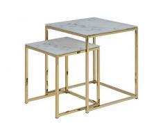 Amazon Brand - Movian Rom - Mesa de centro, 45 x 45 x 50 cm, blanco