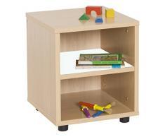 Mobeduc Mueble Infantil Superbajo estantería 360, Haya, Haya y Blanco, 36x40x44 cm