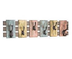 Haku Möbel armario de pared - armario Óptica vintage de acero con 10 ganchos, ancho 81 cm