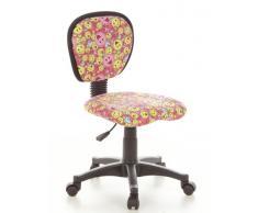 hjh OFFICE 670165 - Silla de escritorio infantil con diseño de smiley, color rosa y amarillo
