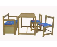 Schardt 01 813 00 03 Funny - Juego de Muebles Infantiles: 1 Mesa, 2 sillas y 1 Banco