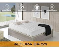 Dormi Premium Cloud 24 5.0 - Colchón viscoelástico y ortopédico, 90 x 200 x 24 cm, Todas las medidas