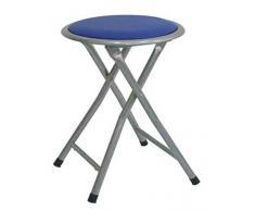 Lemon azul Taburete plegable metal asiento skai,para cocina, baño, balcón, habitación juvenil. 1 unidad