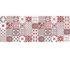 VINILIKO, Alfombra de vinilo, Lisboa, Rojo, 66x180 cm