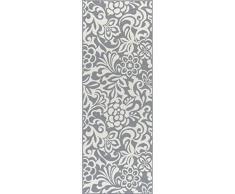 Universal Alfombra Floral Camino de transición Accent Alfombra, Gris, 221 x 79 cm