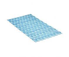 TATAY 5510200 - Alfombra antideslizante para ducha o bañera con diseño de peces, 70 x 36, azul translúcido