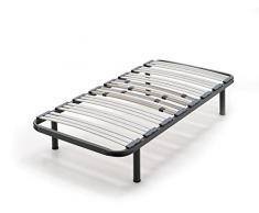 HOGAR 24 Somier multiláminas con reguladores lumbares-90x190cm-PATAS 26CM (4 Patas Incluidas), Haya, 90x190cm