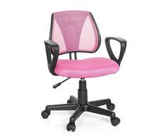 Hjh Office Kiddy Cd Silla de oficina infantil Rosa (Pink) 40x53x92 cm