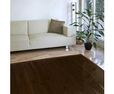 Estores Basic Natural Alfombra, Bambú, Marrón Oscuro, 80 x 150