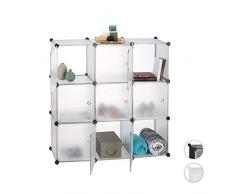 Relaxdays Estantería Modular con 9 Compartimentos, 146 x 110 x 46 cm