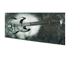 Haku Möbel Armario de Pared, Metal, Negro, 80 x 7 x 35 cm