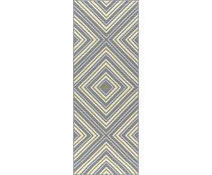 Universal Rugs Charley Chevron Camino de transición Accent Alfombra, Gris, 221 x 79 cm