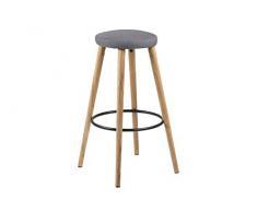 Amazon Brand - Movian Tarna - Juego de 2 taburetes de bar, 41 x 41 x 77 cm, gris