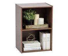 Estantería de Libros con 2 Compartimentos para salón, habitación Infantil y Oficina doméstica