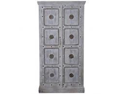 DRW Armario con 2 Puertas de Madera de Mango 100x45x195cm