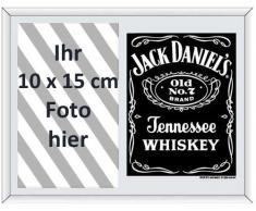 Empire 541857 Jack Daniels Horizontal Black - Espejo serigrafiado con marco de fotos (22,8 x 17,8 cm), diseño de whisky Jack Daniels