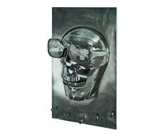 Haku Möbel Armario de Pared, Metal, Negro, 35 x 19 x 62 cm