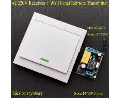 AC 220 V receptor panel de pared transmisor remoto interruptor de control remoto inalambrico dormitorio luces de techo lamparas de pared inalambrico TX blanco