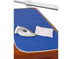 Venca Tapete planchar en aluminio impermeable antideslizante azul 000