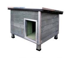 TK Pet Caseta robusta de madera para perros Nevada Gris
