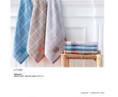 BOMDIA CLASSIC® 3 Paños de cocina rizo 50x50 cm color azul gris beige (KT 138)