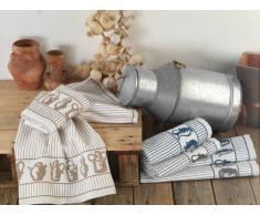 BOMDIA CLASSIC® Paños de cocina tradición 50x50 cm algodón rizo - Portugal Natura (KT105)