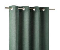 Maisons du Monde Cortina de ojales verde 140x300