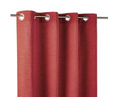 Maisons du Monde Cortina de ojales roja 140x300
