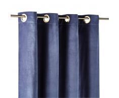 Maisons du Monde Cortina de ojales de terciopelo azul índigo 140x300