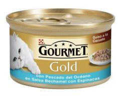 Purina Gourmet Gold Guiso a la Cazuela con Pescado del Océano y Espinacas