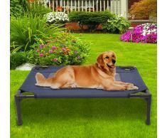 PawHut ® Cama para Mascotas Perro o Gato para Exterior Azul y Negro 76x61x18 cm