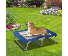 PawHut ® Cama de Gato Perro Plegable Apto Interior Exterior Viaje Acero y Tela Oxford 71x58x18cm