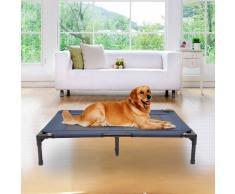 PawHut Cama para Mascotas tipo Perro o Gato para Exterior Terraza y Jardín - Azul - 91,5x76,2x18 cm
