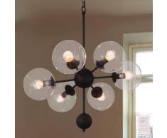 Viokef Lámpara colgante Britta cristal con 6 bombillas