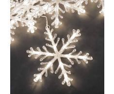 Konstmide Copos de nieve cadena 5 luces LED blanco cálido 4m