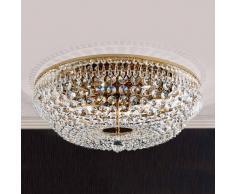 Orion Lámpara de techo cristal SHERATA redonda oro 55 cm