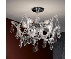 Orion Elegante lámpara de araña de cristal Caroline