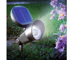 Esotec Foco solar LED de pared y suelo Spotlight