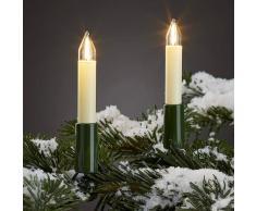Hellum Cadena de luces exterior, 20 velas filamentos LED