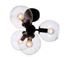 Viokef Lámpara de techo Britta cristal con 4 bombillas
