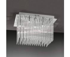 Orion Lámpara de techo Future II con varillas de cristal
