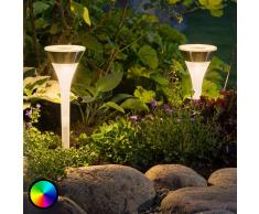 Konstmide Reflector solar con pica de tierra Assisi RGB-LED