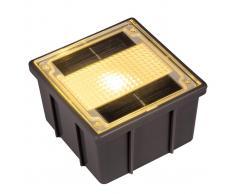 Heitronic Foco de suelo empotrado solar Adoquín con LED