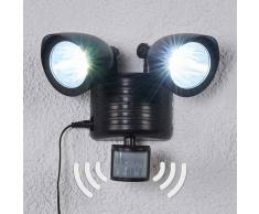 Lampenwelt.com Reflector solar LED de dos llamas Tamar