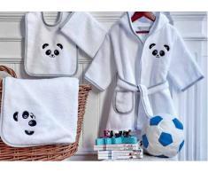 Bomdia Classic® Capa de baño de bebé 85x85 cm - Toalla capucha bebé bordada panda (B 92 - capa)