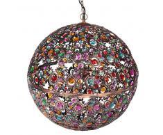 Maisons du Monde Lámpara de techo multicolor de metal y cristal Diám. 50 cm MILLE ET UNE NUITS