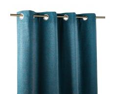 Maisons du Monde Cortina de ojales azul pato 140x300