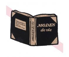 Maisons du Monde Felpudo libro de fibra de coco negra 45x65 Chantal Thomass
