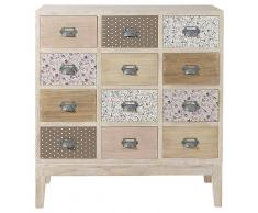 Maisons du Monde Cajonera-cómoda con 12 cajones de madera An. 75 cm Pimprenelle