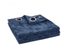 Maisons du Monde Cortina de ojales azul 135x270